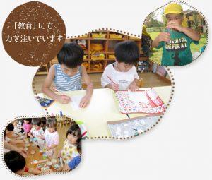 園の教育方針(保育+教育)